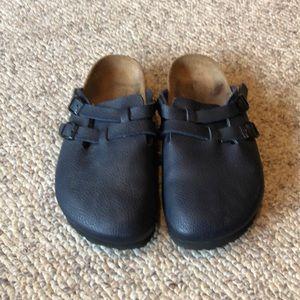 Birkenstock Navy Blue Birki's Boston clog shoes 7